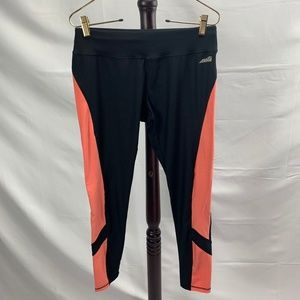 Avia Black & Pink Athletic Workout Legging Pants s